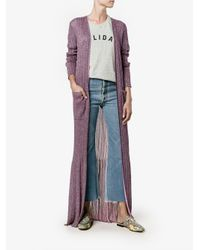 Missoni - Pink Long Lurex Cardigan - Lyst