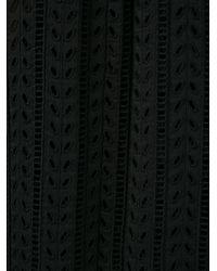 Philosophy - Black Crochet Ruffle Cape - Lyst