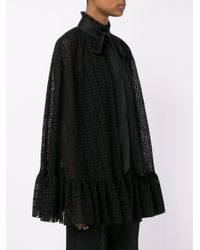 Philosophy - Black Crochet Ruffle Cape - Lyst
