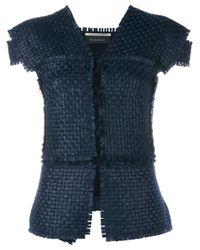 Roland Mouret - Black Penfold Wool-blend Woven Jacket - Lyst