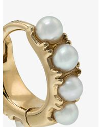 Rosa De La Cruz - Metallic 18k Yellow Gold Mini Pearl Hoop Earrings - Lyst