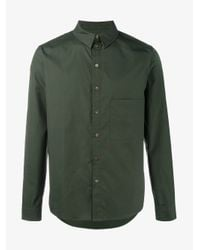 By Walid - Black Ben Camouflage Green Cotton Shirt for Men - Lyst