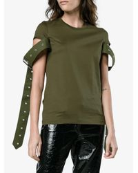 Marques'Almeida - Green Cotton T Shirt With Buckle Straps - Lyst