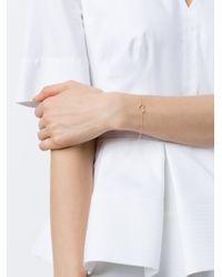 Rosa De La Cruz - Metallic Yellow Gold & White Diamond Heart Bracelet - Lyst