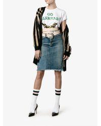 Natasha Zinko - White Go Bananas! Print T-shirt - Lyst