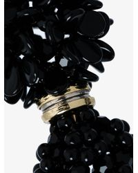 Simone Rocha - Black Beaded Floral Earring - Lyst