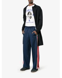 Facetasm - Blue Stripe Track Pants for Men - Lyst