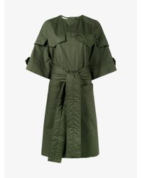 Marni - Green Military Shirt Dress - Lyst