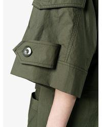 Marni - Green Military Shirt Dress - Lyst