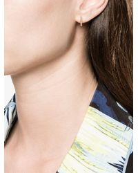 Lizzie Mandler - Gray Petit Square Huggies Single Earring - Lyst