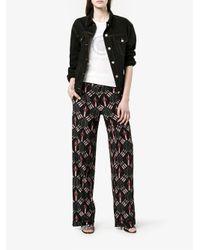 Valentino   Black Love Blade Print Pyjama Trousers   Lyst