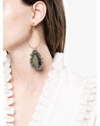 Alexander McQueen - Multicolor Jewelled Hoop Earring - Lyst