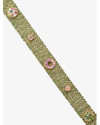 Carolina Bucci   Metallic Melange Woven Bracelet   Lyst