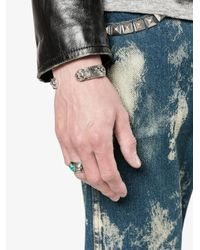 Gucci | Metallic Tiger Head Bracelet for Men | Lyst