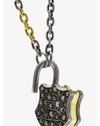 Sevan Biçakci - Brown Diamond Padlock Shield Pendant - Lyst