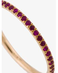 Ileana Makri - Metallic Thread Band Ring - Lyst