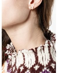 SHAY - Metallic Mini Baguette Diamond Hoop Earrings - Lyst
