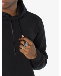 Alexander McQueen - Metallic Divided Skull Ring for Men - Lyst