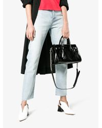 Saint Laurent - Black Small Sac De Jour With Silver Chain Strap - Lyst
