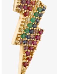Anton Heunis | Metallic Gold And Precious Stones Lightning Bolt Earring | Lyst