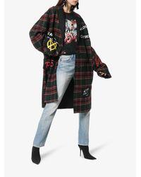 R13 - Black Tartan Punk Patch Coat - Lyst