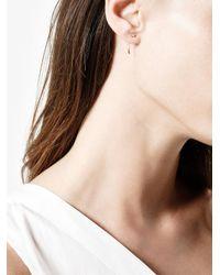 Melissa Joy Manning - Gray Long Curved Cube Bar Earrings - Lyst