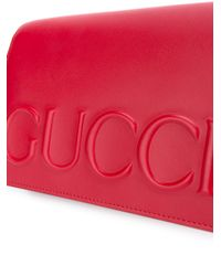 Gucci - Red Leather Logo Cross Body Bag - Lyst