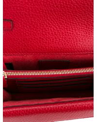 Valentino - Red Leather Rockstud Bag - Lyst