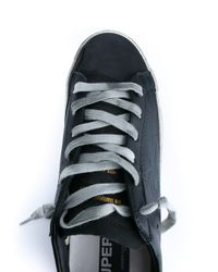 Golden Goose Deluxe Brand - Blue Distressed Leather Sneakers - Lyst