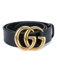 Gucci - Black Leather Logo Belt for Men - Lyst