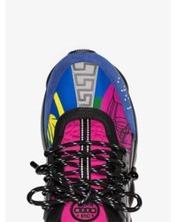 Versace - Black And Multicoloured Chain Reaction Sneakers for Men - Lyst