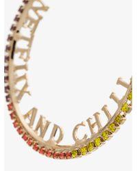 Anton Heunis - Metallic Gold Plated Netflix And Chill Swarovski Crystal Hoop Earrings - Lyst