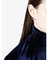 Yvonne Léon - Metallic Engraved Fine Earrings - Lyst