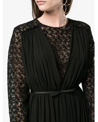 Giambattista Valli - Black Macrame Lace Long Sleeve Dress - Lyst