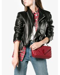 Saint Laurent - Red Envelop Flap Quilted Leather Bag - Lyst