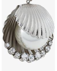 Miu Miu - Metallic Shell Pearl Drop Earrings - Lyst