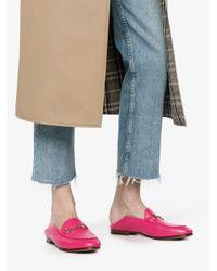 Gucci - Pink Brixton Horsebit Loafers - Lyst