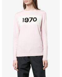 Bella Freud - Pink 1970 Intarsia Wool Sweater - Lyst