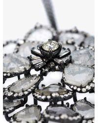 Saqqara - Gray 'flower' Necklace - Lyst