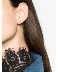 Rosa De La Cruz - Metallic White Gold, Diamond And Opal Single Stud Earring - Lyst