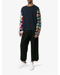 J.W. Anderson | Blue Crochet Sleeve Jumper for Men | Lyst