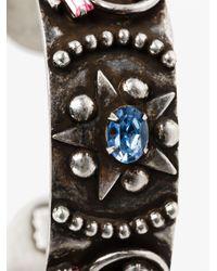 DANNIJO - Metallic Crystal Embellished Bangle - Lyst
