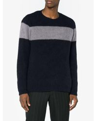 The Elder Statesman - Blue Striped Cashmere Sweater for Men - Lyst