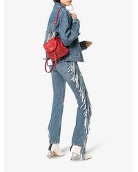 MSGM - Blue Fringed Straight-leg Jeans - Lyst
