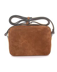 Lanvin - Natural Shoulder Bag Nomad Mini Suede Beige - Lyst