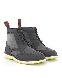 Swims - Gray Boots Full Brogue Barry Brogue High Gum Hightech-jersey Grey for Men - Lyst