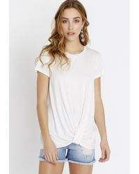 Buffalo David Bitton - White Draped Tucked - Lyst