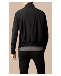 Burberry | Zip Front Packaway Jacket Black for Men | Lyst