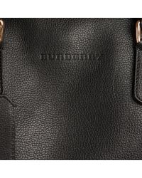 Burberry - Grainy Leather Holdall Black for Men - Lyst