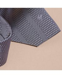 Burberry - Gray Modern Cut Polka Dot Silk Tie for Men - Lyst